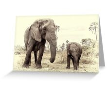 Mother and daughter. Greeting Card
