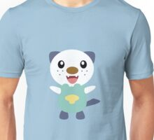 Oshawott - blue background Unisex T-Shirt