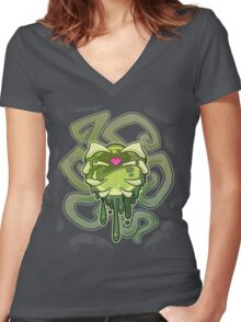 Green Lover Women's Fitted V-Neck T-Shirt