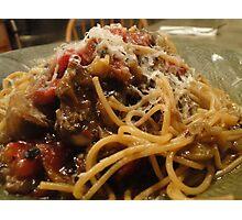 Eggplant Pasta! Photographic Print