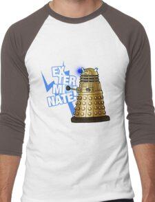 Doctor Who - EX-TER-MIN-ATE! Men's Baseball ¾ T-Shirt