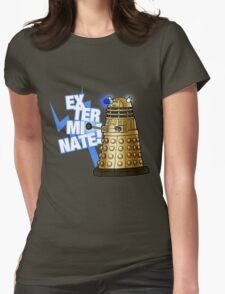 Doctor Who - EX-TER-MIN-ATE! Womens Fitted T-Shirt