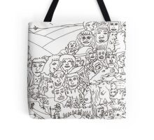 Peoplescape drawing Tote Bag