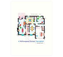 House of Simpson family - Ground Floor Art Print