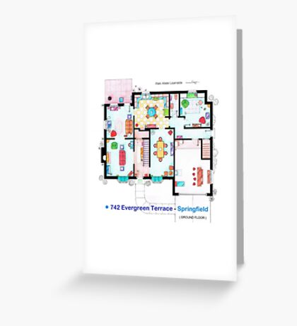House of Simpson family - Ground Floor Greeting Card