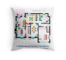 House of Simpson family - Ground Floor Throw Pillow
