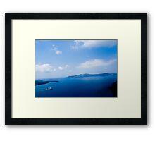 Cruiser in Santorini, Greece VRS2 Framed Print