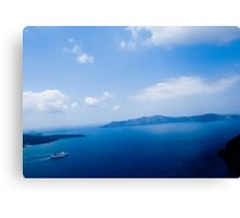Cruiser in Santorini, Greece VRS2 Canvas Print