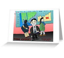 webcomic du trading asiatique et la mauvaise air Greeting Card