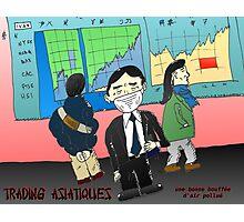 webcomic du trading asiatique et la mauvaise air Photographic Print