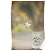 Tulip in jelly jar Poster