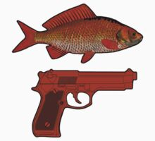 Red Fish Handgun Graphic by astralsid