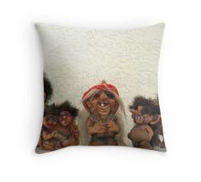 Troll-la-la Throw Pillow