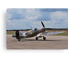 Spitfire on Runway Canvas Print