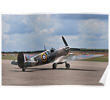 Spitfire on Runway Poster