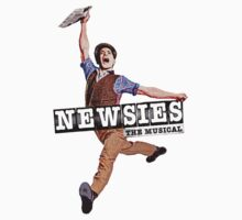 Newsies The Musical Cover Art Kids Tee