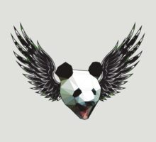 Action Wings Flying Polygonal Panda Power by astralsid