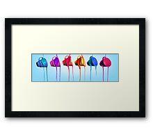 Turning Teacups (Coloured) Framed Print