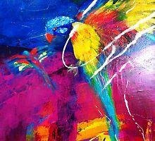 Rainbow bird by Suellen Terry