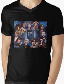 11 Doctors T Shirt Mens V-Neck T-Shirt