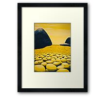 Rocky Valley, by Barbie Hardrock Framed Print