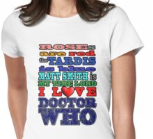 Valentine WHO - Smith Womens Fitted T-Shirt