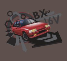 Citroen BX GTI 16V illustrated T-shirt by Autographics