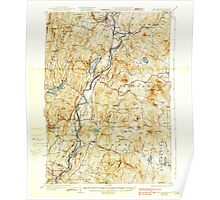 USGS TOPO Map New Hampshire NH Mt Cube 330222 1933 62500 Poster