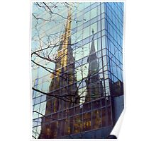 NYC Cathedral Reflection  Poster