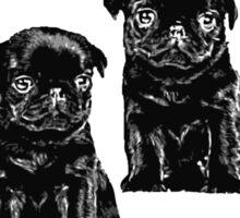 black pug Sticker