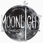 Moonlight Art Magazine T-shirt w/Moon by Christopher Moonlight