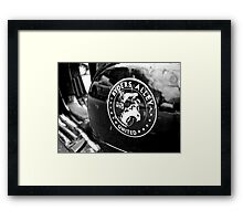 Black Vespa Framed Print