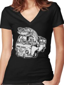 Musky Vanagon Women's Fitted V-Neck T-Shirt