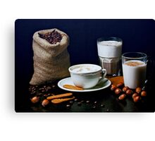 Latte, Capuccino, and Biscuits Canvas Print