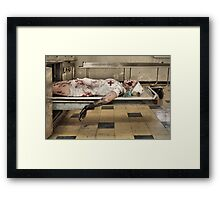 Zombies Die Too Framed Print