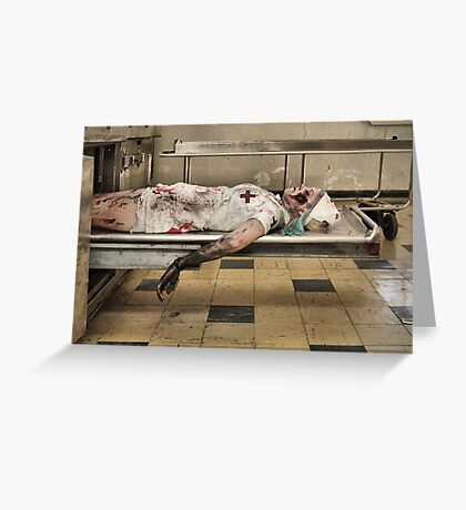 Zombies Die Too Greeting Card