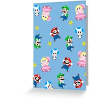 Super Mario Pattern Greeting Card