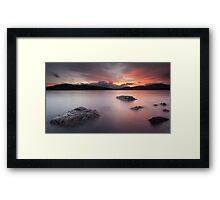Clatteringshaws Loch Framed Print