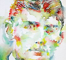 FRANZ KAFKA watercolor portrait.2 by lautir