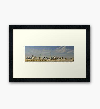 Sheikh Zayed Road from Meydan Framed Print