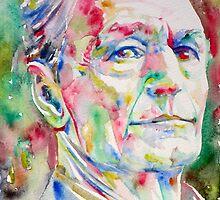 HERMANN HESSE watercolor portrait.1 by lautir