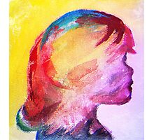 Girl in Abstract Photographic Print
