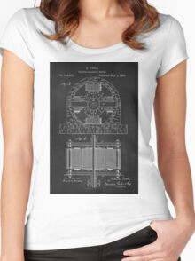 Tesla Coil Patent Art Women's Fitted Scoop T-Shirt