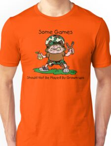 """Anti-War Peace """"Some Games Should Not Be Played By Grown Ups"""" Unisex T-Shirt"""