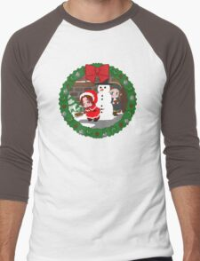 Christmas Chibitalia and Holy Rome Men's Baseball ¾ T-Shirt