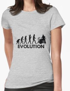 Evolution of a Drummer Womens Fitted T-Shirt