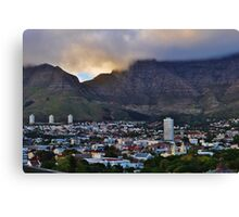 Cape Town, softened Canvas Print