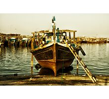 Dhow under Repair Photographic Print