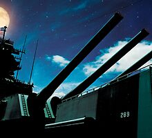 Moon Over USS Missouri by Alex Preiss