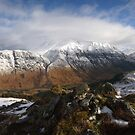Ben Nevis and Glen Nevis from  Bidein Bad na h-Iolaire. by John Cameron